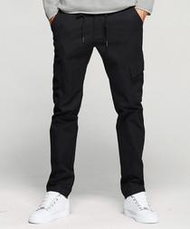 Black pure cotton trousers