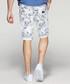 White pure cotton print shorts Sale - kuegou Sale