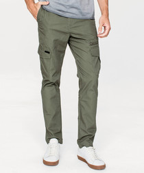 Green pure cotton trousers