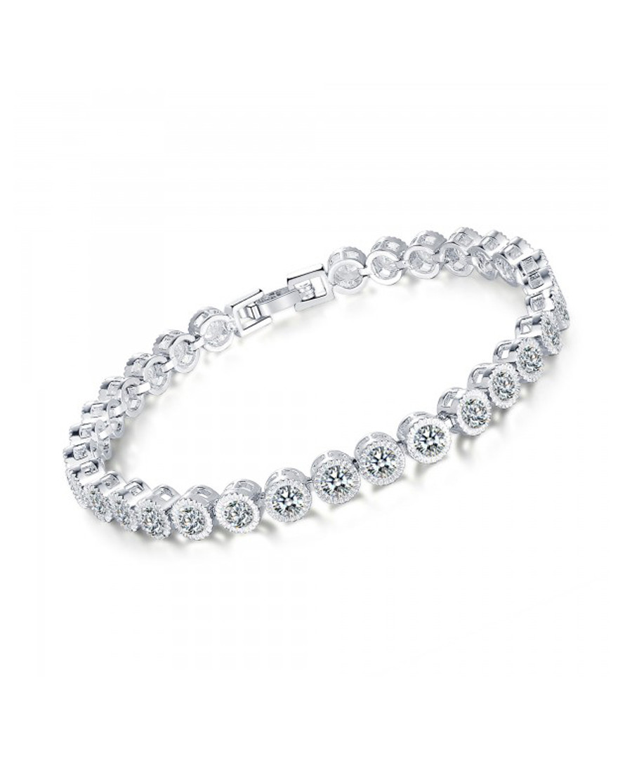 5ct sapphire & rhodium-plated bracelet Sale - Clear Crystal