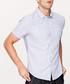 Blue cotton blend short sleeve shirt Sale - kuegou Sale
