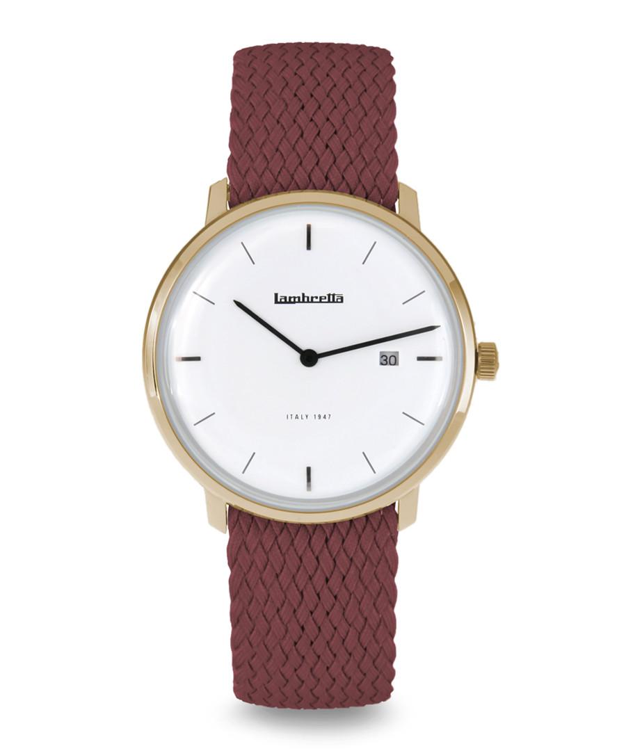 Red & gold-tone steel braided watch Sale - Lambretta