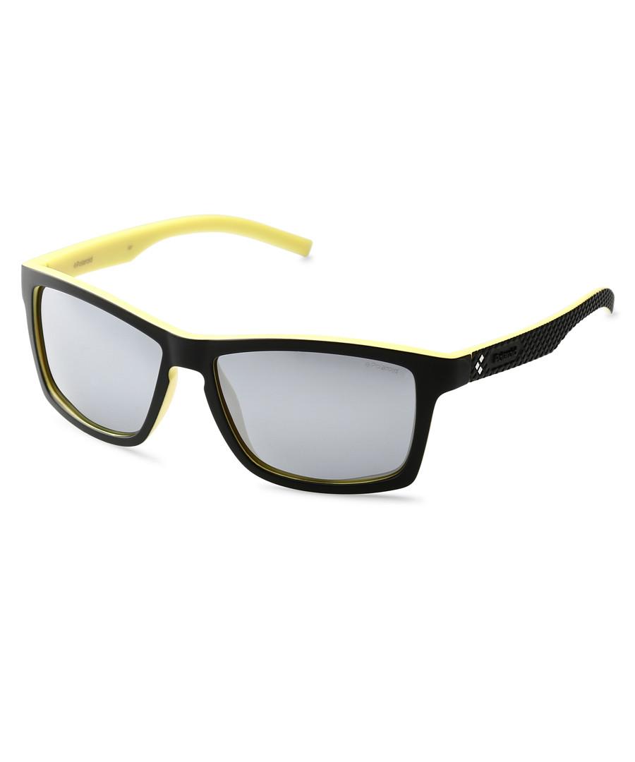 Black & yellow rectangular sunglasses Sale - polaroid
