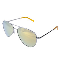 Silver-tone aviator sunglasses