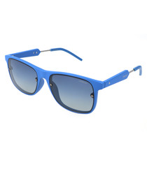 Blue flat top sunglasses