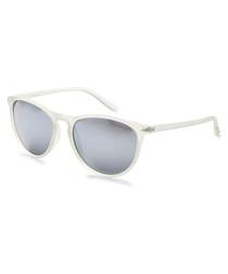 Clear & grey wayfarer sunglasses