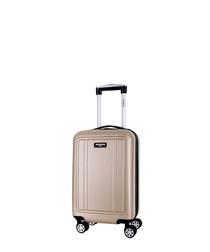 Newman beige spinner suitcase 46cm