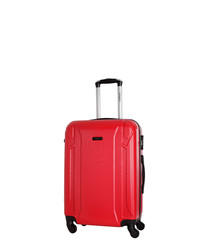 Levy red spinner suitcase 50cm