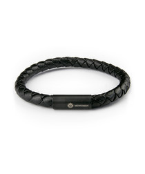 Black nappa braided bracelet