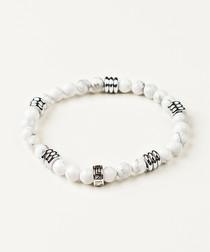 White hoplite beaded bracelet