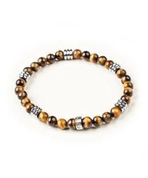 Brown tiger eye beaded bracelet