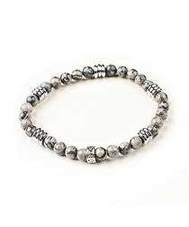Grey jester beaded bracelet