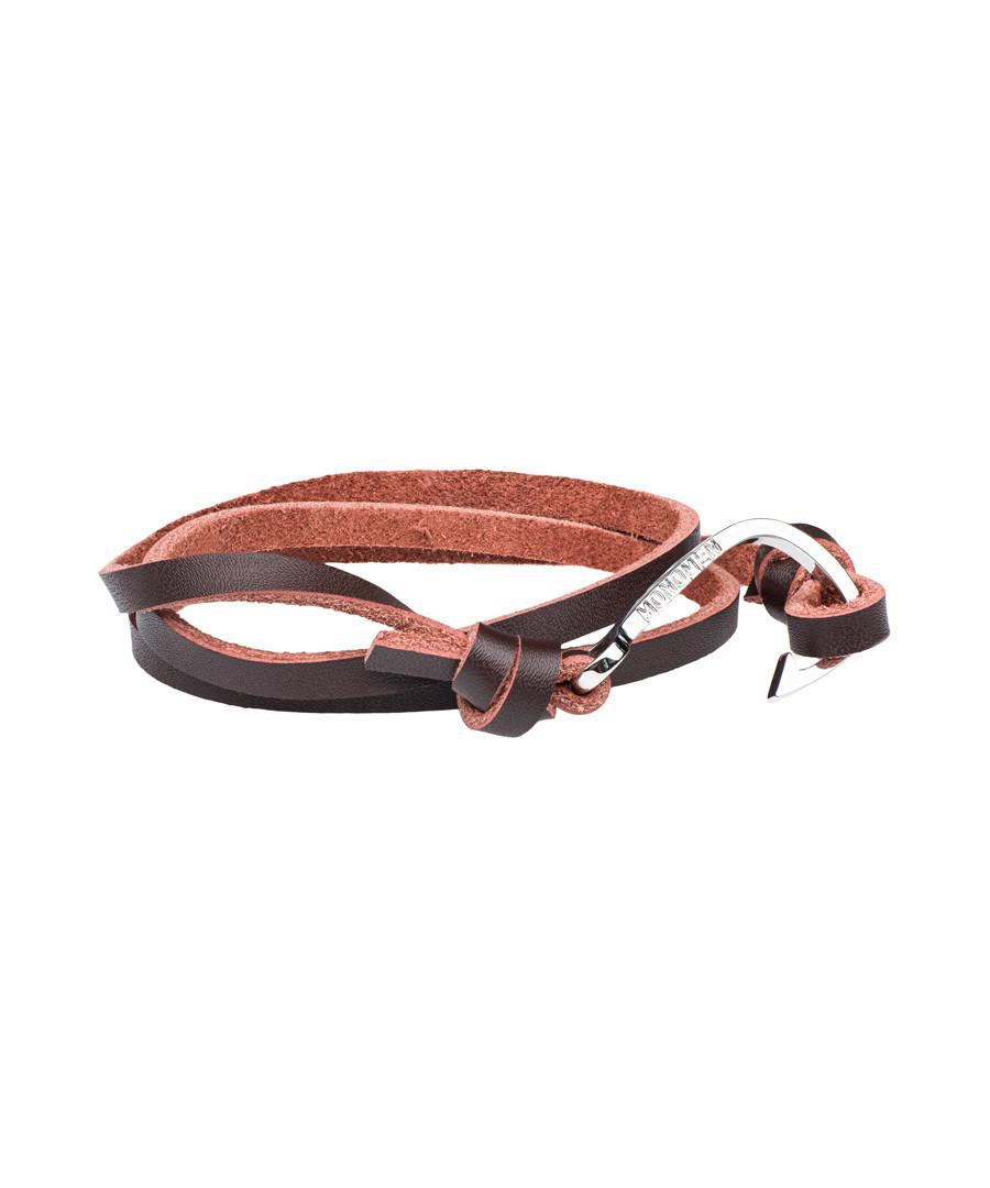 Brown nappa wrap anchor bracelet Sale - monomen