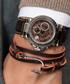 Brown nappa wrap anchor bracelet Sale - monomen Sale