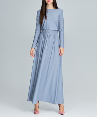 FIGL. Grey long sleeve maxi dress 968a4738d