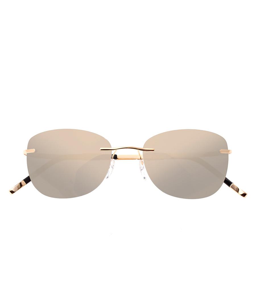 Gold-tone frameless sunglasses Sale - simplify