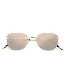 Gold-tone frameless sunglasses