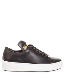 Mindy black leather sneakers