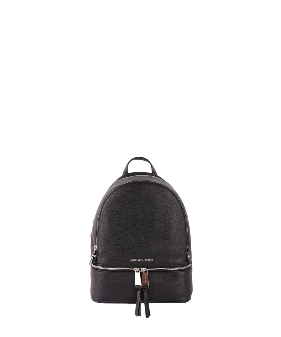 7d1590f6f919 Rhea black grained leather backpack Sale - MICHAEL MICHAEL KORS