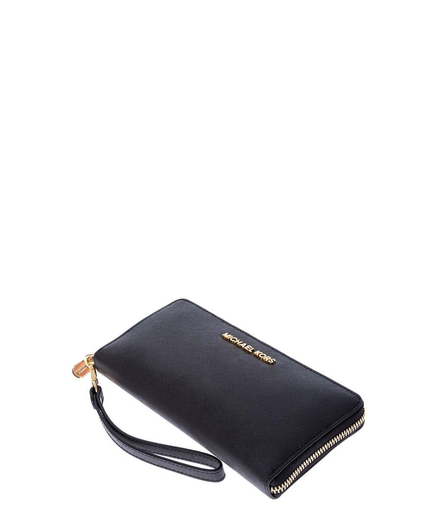 d1488e4a2b27 ... Black leather zip-around purse Sale - MICHAEL KORS Sale