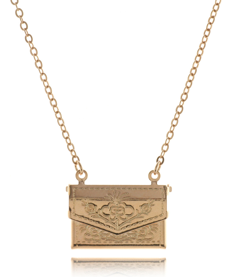 Floral Handbag rose gold-plated nacklace Sale - fleur envy gaia