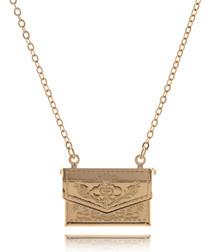 Floral Handbag rose gold-plated nacklace