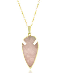 Arrowhead rose quartz necklace