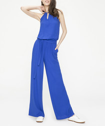Royal blue sleeveless jumpsuit
