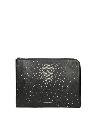 Alexander Mcqueen. Black calf leather studded pouch d3b3111197b94
