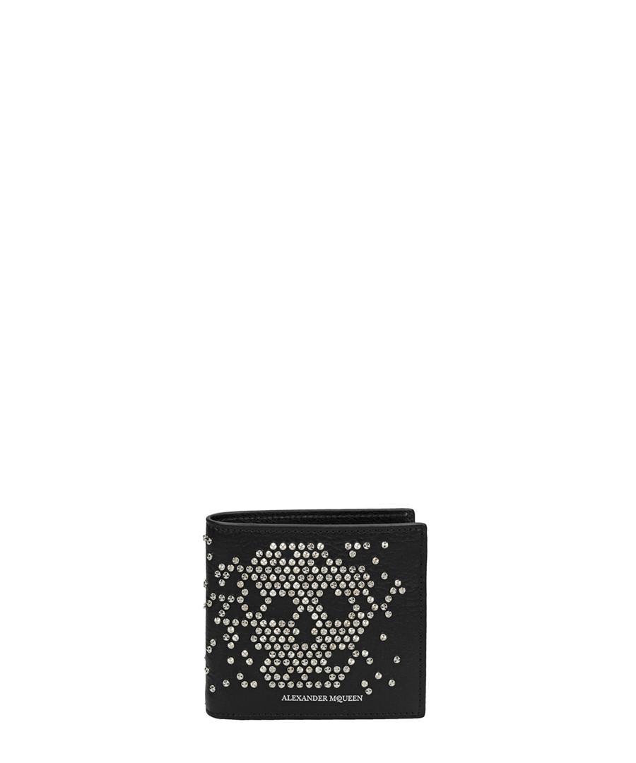 Black leather skull stud wallet Sale - alexander mcqueen