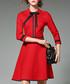 Red & black 3/4 sleeve mini dress Sale - Kaimilan Sale
