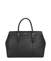 Mulhouse black leather grab bag