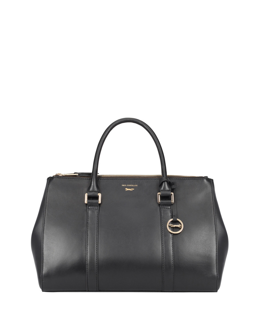 Granville black leather grab bag Sale - paul costelloe