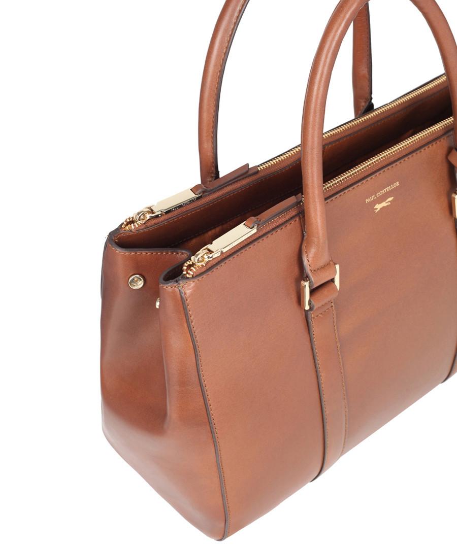 f767e15fe49f ... Granville tan leather grab bag Sale - paul costelloe ...