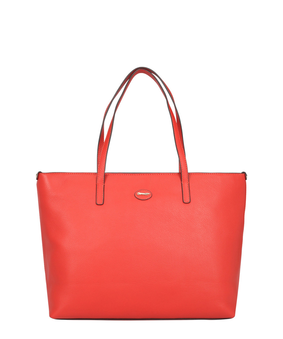 Tropez Orange Leather Shoulder Bag by Paul Costelloe                                      Sold Out