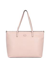 Tropez pale pink leather shoulder bag