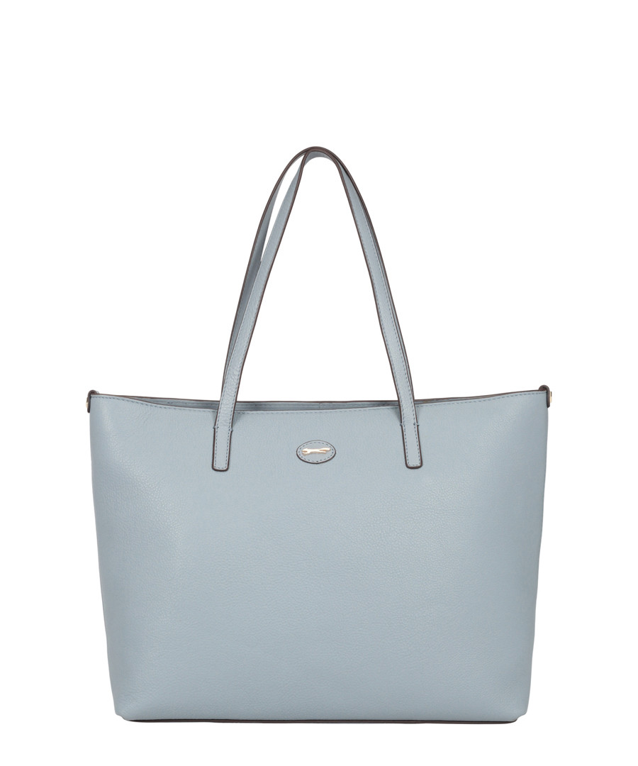 Tropez Light Blue Leather Shoulder Bag by Paul Costelloe                                      Sold Out
