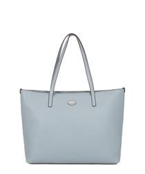 Tropez light blue leather shoulder bag