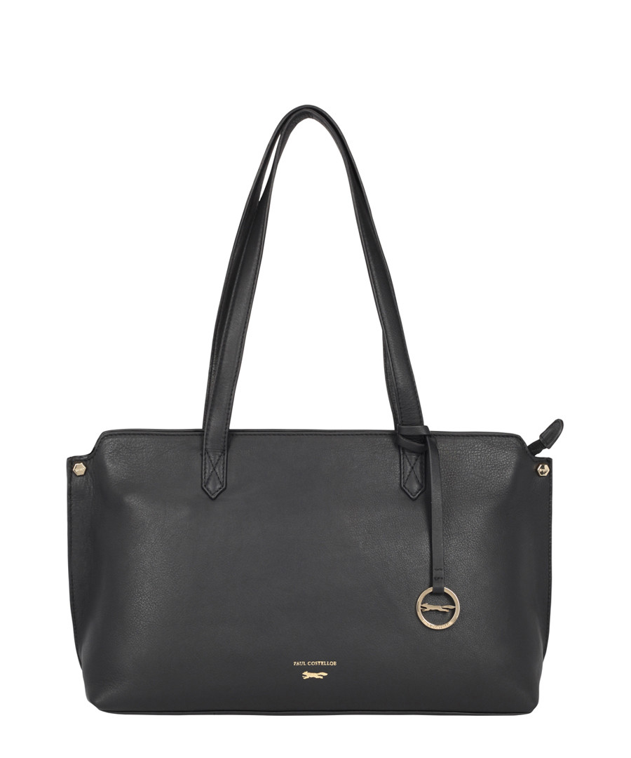 Marseille Black Leather Shoulder Bag by Paul Costelloe                                      Sold Out