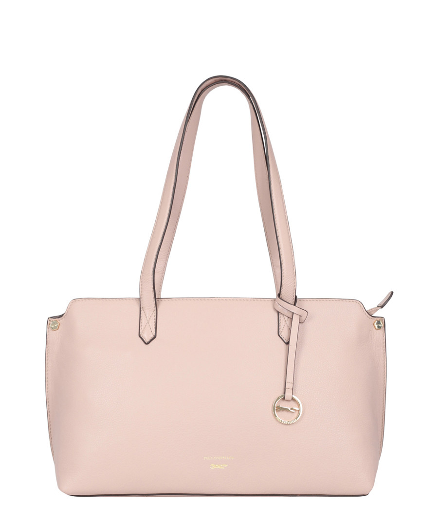 Marseille Pale Pink Leather Shoulder Bag by Paul Costelloe                                      Sold Out