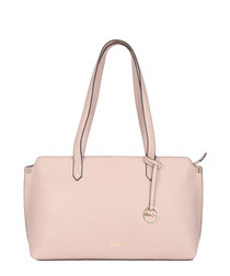 Marseille pale pink leather shoulder bag