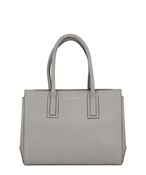 Savoie off white leather grab bag