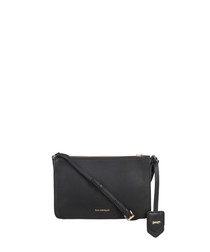 Colmar black leather cross body bag