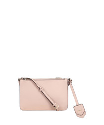 Colmar pale pink leather cross body bag