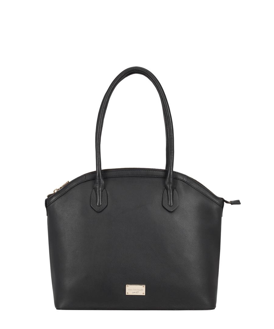 Troyes black leather shoulder bag Sale - paul costelloe