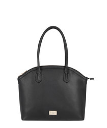 Troyes black leather shoulder bag