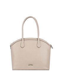 Troyes off-white leather shoulder bag