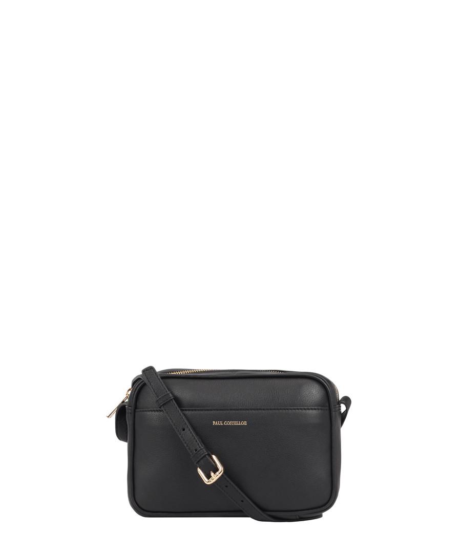 Cooper black leather cross body bag Sale - Paul Costelloe