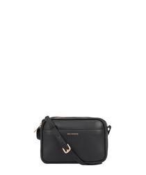 Cooper black leather cross body bag