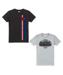 2pc black & grey cotton T-shirt set